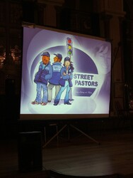 Street Pastors in lights
