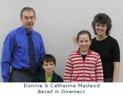 Donnie Macleod and family