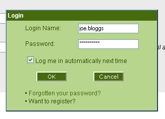 Log-in  automatic