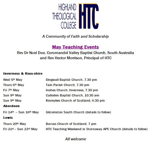 HTC May events