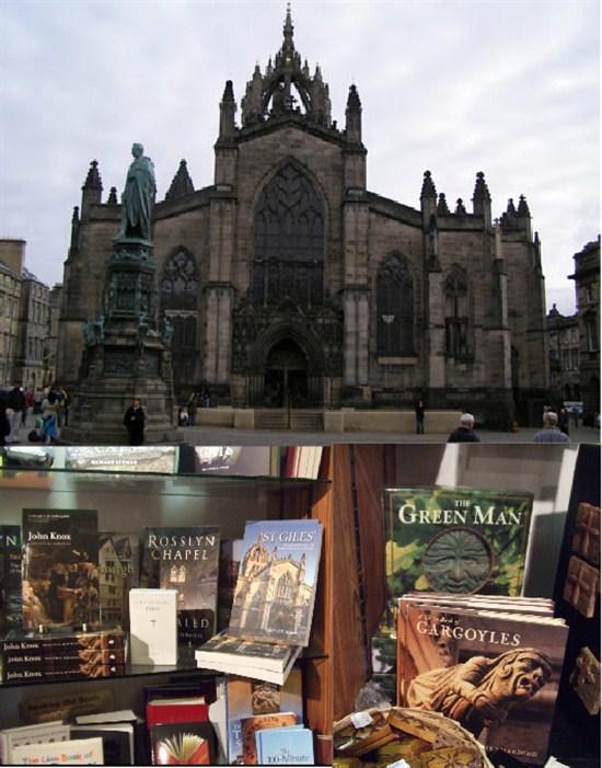 St Giles and books