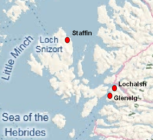 Staffin map