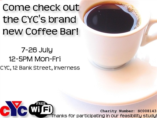 CYC Coffee bar leaflet