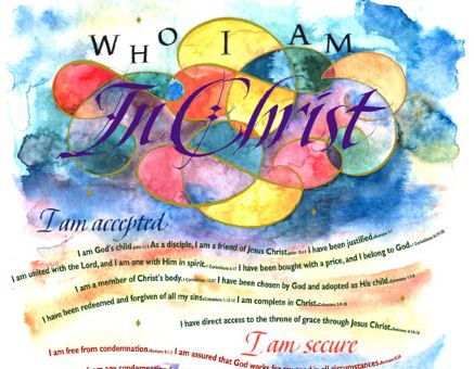 photo relating to Who I Am in Christ Printable identified as Christians Jointly : Who I am inside of Christ