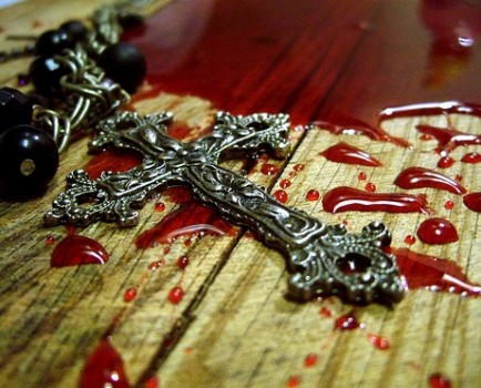 Cross and blood